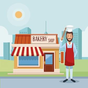 ベーカリーショップとパン屋