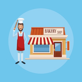Bakery shop and baker