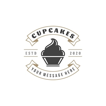 Bakery shop logo template.   object and icon for pastry food label