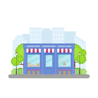 Bakery shop, store front,