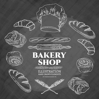 Bakery shop vector illustration