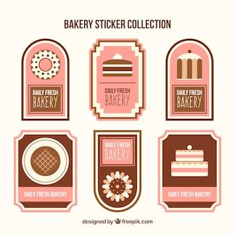 과자와 빵 베이커리 스티커 컬렉션