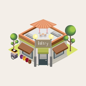 Bakery top view