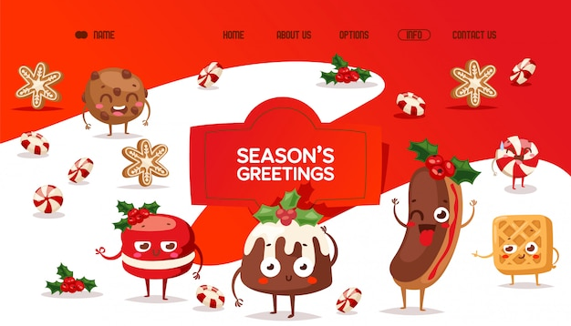 Bakery website, traditional holiday sweets
