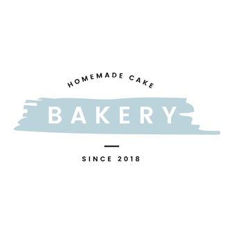 Bakery with homemade cakes logo vector