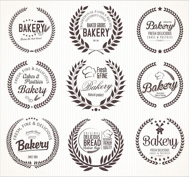 Пекарня Premium векторы