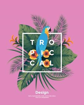 Тропический bakground с рамкой