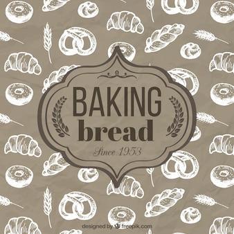 Выпечка хлеба ретро знак