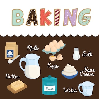 Baking concept with icon design
