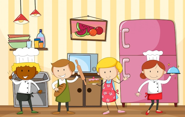 Baking and cooking Premium Vector