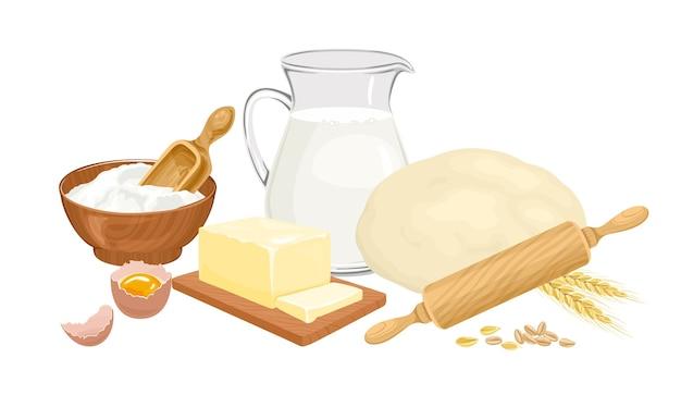 Baking ingredients set
