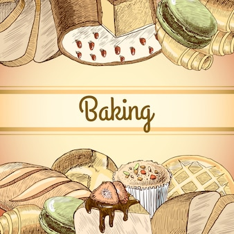 Baking pastry background