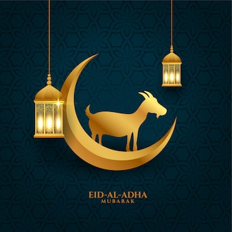 Bakrid eid al adha festival greeting wishes background