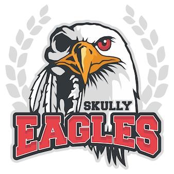 Bald eagle mascot vector