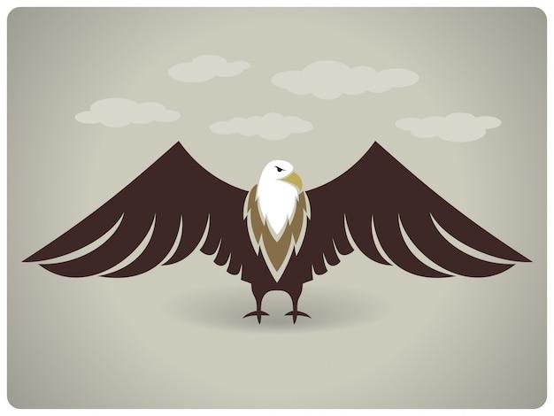 白頭ワシのベクトル図
