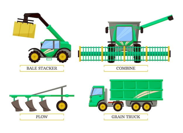 Bale stacker and combine set