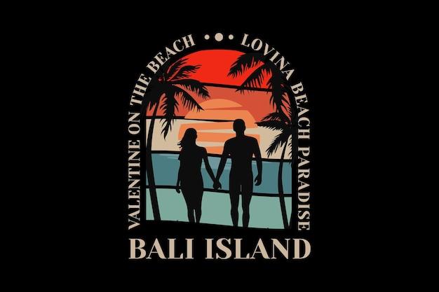.bali island, design sleety retro style