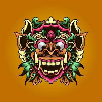 Balinese barong illustration