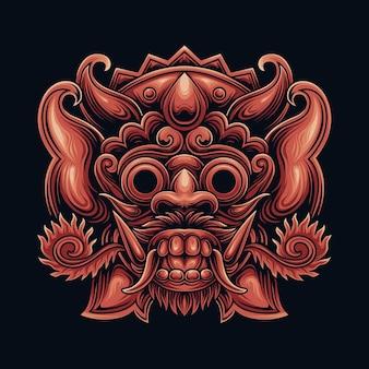 Балийская маска баронга из индонезии