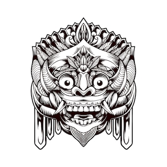 Balinese barong traditional mask