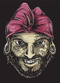 Balinese tattooed gangster