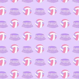 공과 모자 원활한 패턴 배경