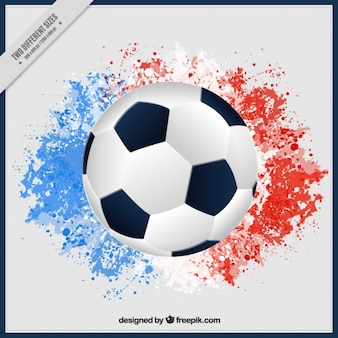 Ball background with watercolor splashes of france usa colors