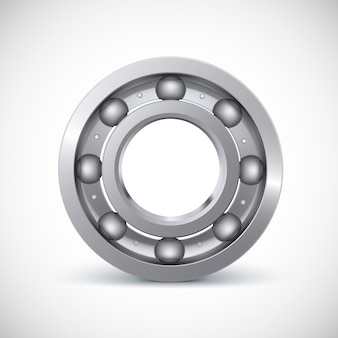 Ball bearing, isolated on white background with.