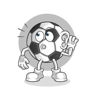Мяч подслушивания вектор мультипликационный персонаж