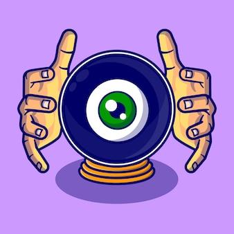 Ball eye cartoon illustration