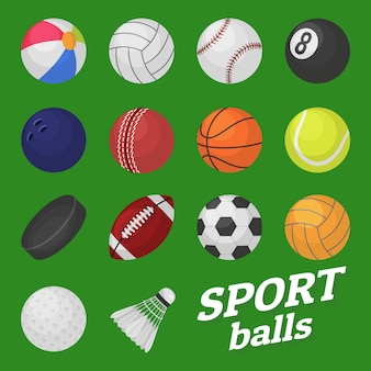 Ball game set. sport and games kids balls