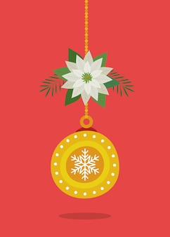 Ball hanging of merry christmas decoration