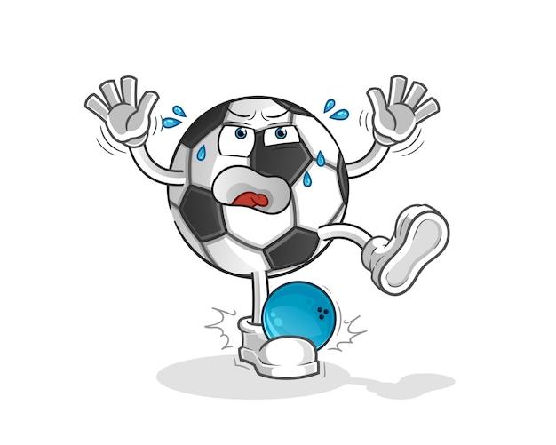볼링 만화 만화 마스코트에 의해 치는 공