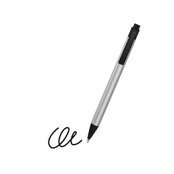 Ball pen and signature