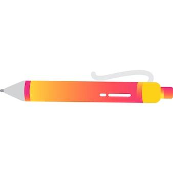 Вектор значок шариковой ручки, изолированные на белом фоне