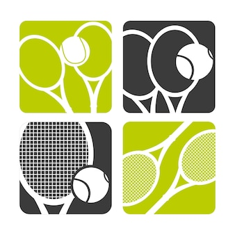 Ball and racket icon