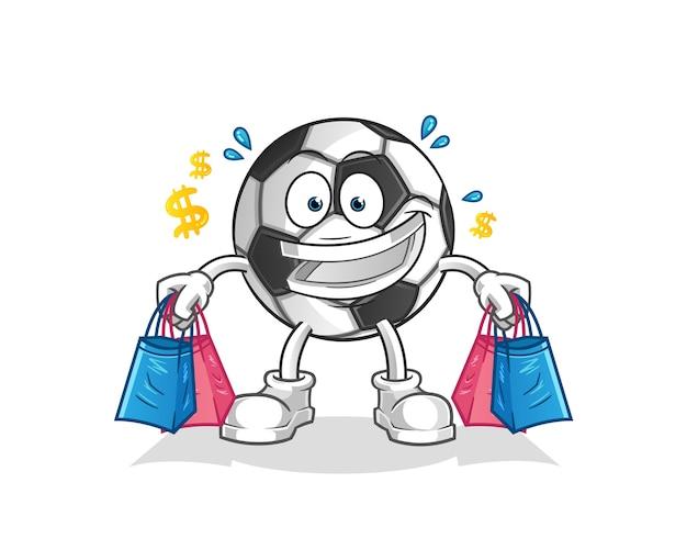 Торговый талисман мячом