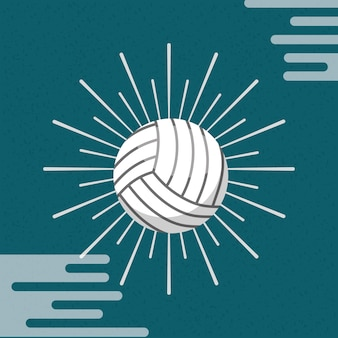 Ball sport volleyball sunburst color background