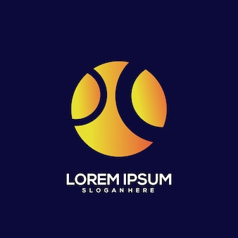 Мяч винтаж логотип градиент золото