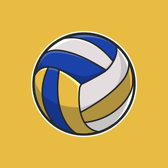 Ball volly illustration