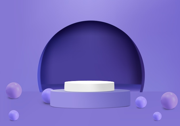 Ball with podium and arch for show product