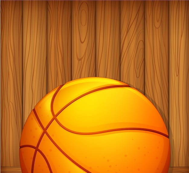 A ball in a wooden wall