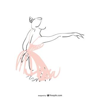 Ballerina dancing ballet