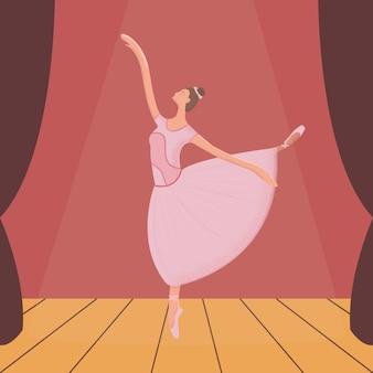 Ballerina modern illustration