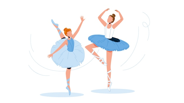 Ballerinas wearing tutu dancing ballet