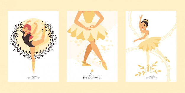 Ballet dancer ballerina woman character dancing in ballet-skirt tutu illustration