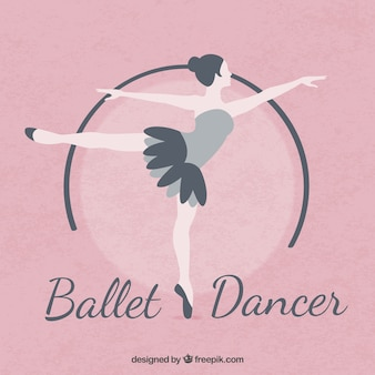 평면 디자인의 발레 댄서