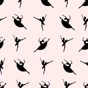 Ballet dancers seamless pattern.