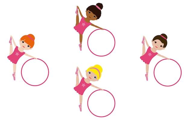 Балетные танцоры с кольцами