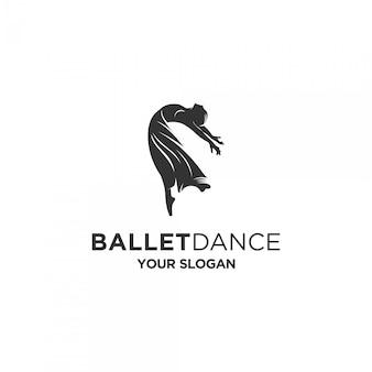 Ballet dancing silhouette logo